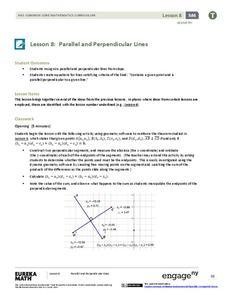 Parallel and Perpendicular Lines Lesson Plan