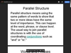Parallel Structure Presentation