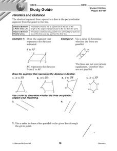 Parallels and Distance Worksheet