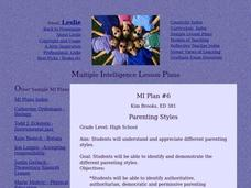 Parenting Styles Lesson Plan