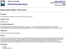 Particulate Matter: The Lorax Lesson Plan