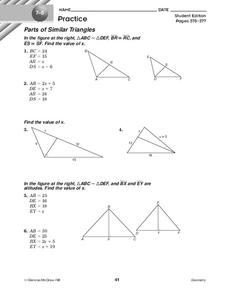 Similar Triangles Worksheets Worksheets for all | Download and ...