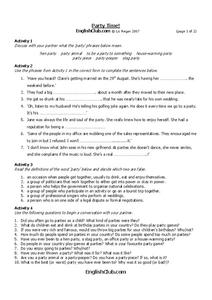 Party Time! Worksheet