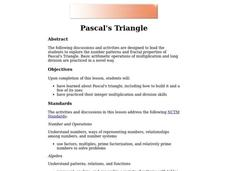 Pascal's Triangle Lesson Plan