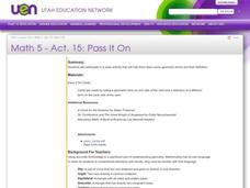 Pass it On Lesson Plan