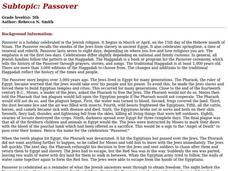 Passover Lesson Plan