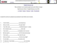 Past Participles Worksheet