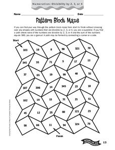 Pattern Block Maze Worksheet