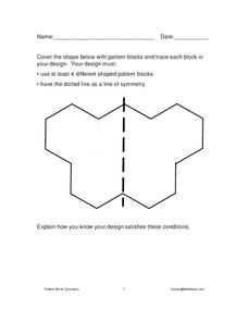 Pattern Block Shapes Worksheet