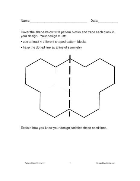 Pattern Block Shapes Worksheet For 1st 2nd Grade