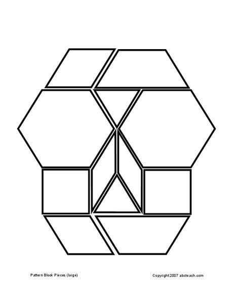 Pattern Blocks Lesson Plans Worksheets Lesson Planet