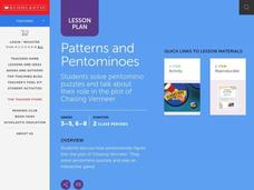 Patterns and Pentominoes Lesson Plan