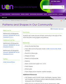 Patterns and Shapes In Our Community Lesson Plan
