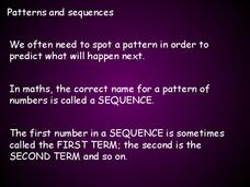 Patterns and Sequences Presentation