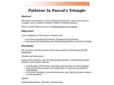 Patterns in Pascal's Triangle Lesson Plan