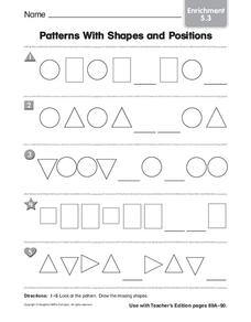 Patterns With Shapes and Positions Worksheet