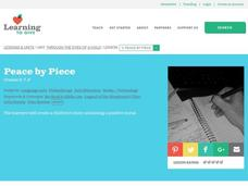 Peace by Piece Lesson Plan