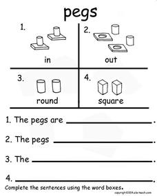 Pegs Worksheet