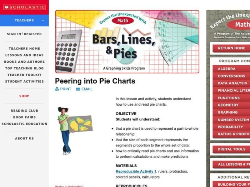 Peering Into Pie Charts Lesson Plan For 3rd 5th Grade Lesson Planet