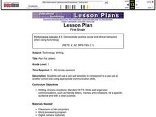Pen Pal Letters Lesson Plan