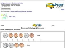 Pennies, Nickels, and Quarters Interactive