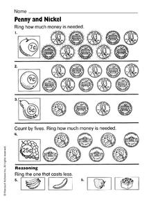 Penny and Nickel Worksheet