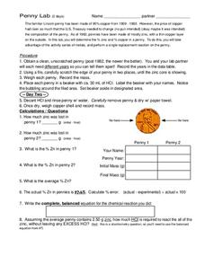 Penny Lab Worksheet