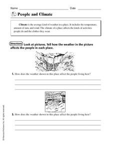 People and Climate Worksheet