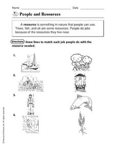 People and Resources Worksheet