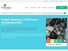 People making a difference Lesson Plan