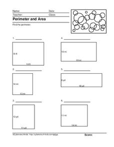 Perimeter and Area #2 Worksheet