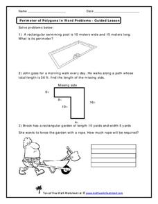 perimeter of polygons in word problems worksheet for 2nd 4th grade lesson planet. Black Bedroom Furniture Sets. Home Design Ideas