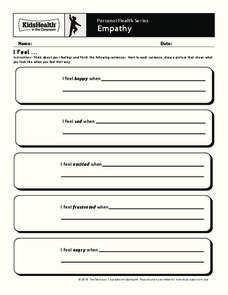 Personal Health Series: Empathy Worksheet