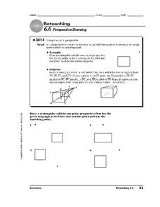 Perspective Drawing Worksheet