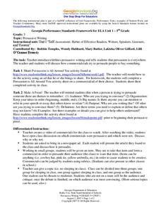 writing a persuasive essay lesson plans