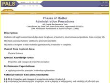 Phases of Matter Lesson Plan