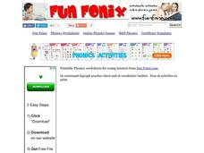 Phonics: CK Consonant Digraph Worksheet