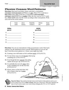 Phonics: Common Word Patterns Worksheet