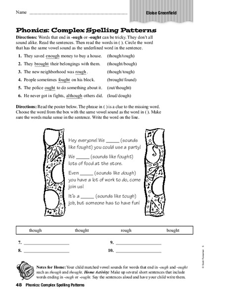 Phonics: Complex Spelling Patterns Worksheet