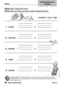 Phonics: Compound Words Worksheet