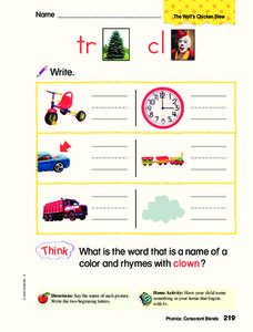 Phonics: Consonant Blends Worksheet