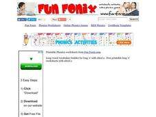 Phonics: Long O With a Silent E Worksheet