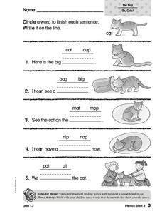 Phonics: Short a Worksheet