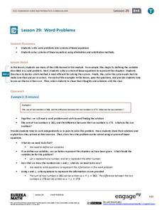 Word Problems Lesson Plan