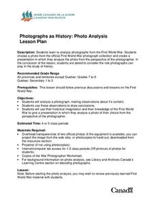 Photographs as History Lesson Plan