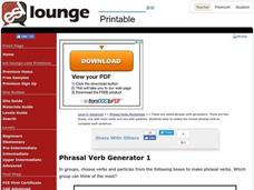 Phrasal Verb Generator Worksheet
