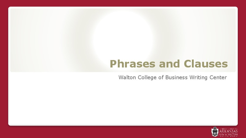 Phrases and Clauses Presentation