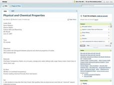 Physical and Chemical Properties Lesson Plan