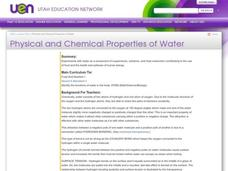 Physical and Chemical Properties of Water Lesson Plan