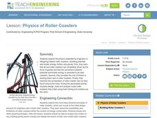 Physics of Roller Coasters Lesson Plan